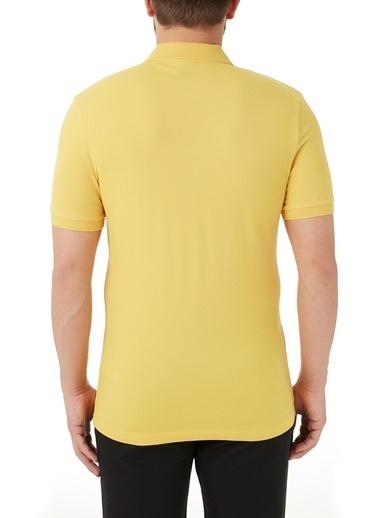 Hugo Boss  Slim Fit Pamuklu Düğmeli Polo T Shirt Erkek Polo 50378334 736 Sarı